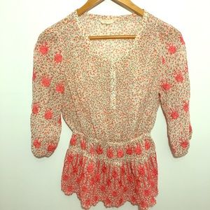 Guess Embroidered Light Weight Blouse 3/4 Sleeve